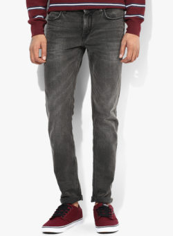 62 250x341 - Route 66 Grey Solid Skinny Fit Jeans