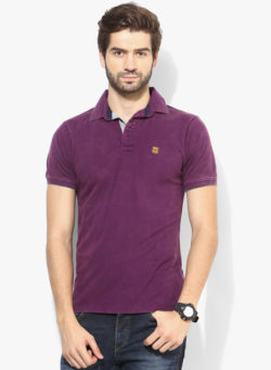 63 250x341 - Route 66 Purple Solid Polo T-Shirts