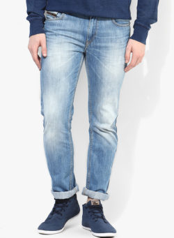 65 250x341 - Route 66 Blue Washed Slim Fit Jeans