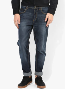 67 250x341 - Route 66 Blue Solid Slim Fit Jeans