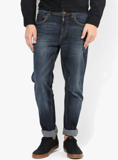 67 400x545 - Route 66 Blue Solid Slim Fit Jeans