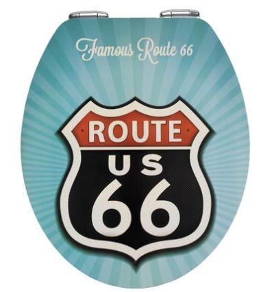3 400x426 - Toilet seat Vintage Route 66 Metal Plate