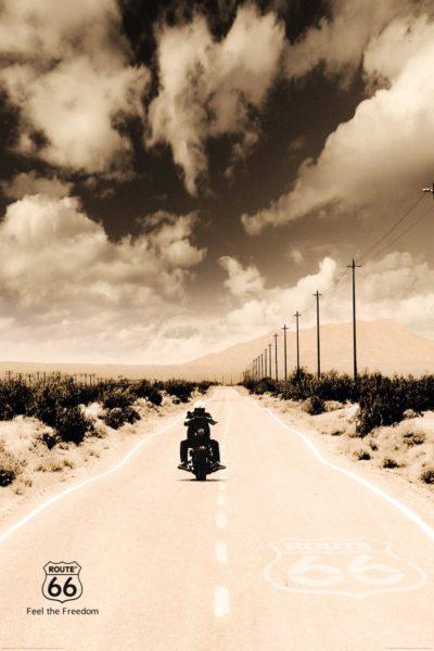 6r 400x600 - Deco Panel 60x90 ROUTE 66 - biker