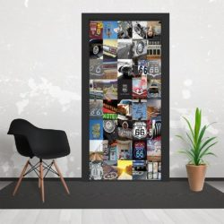 h1 250x250 - 1Wall Route66 USA Collaged 3 Piece Door Mural 95cm x 210cm