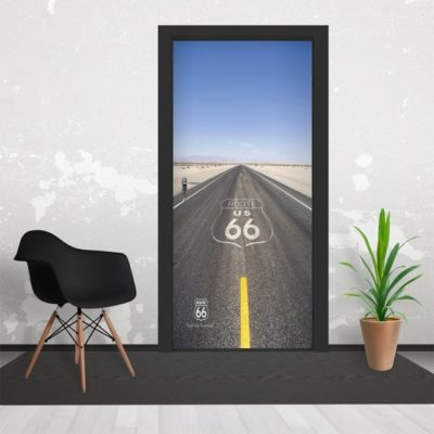 h2 400x400 - 1Wall Iconic Route66 USA Road Door Mural 3 Piece Door Mural 95cm x 210cm