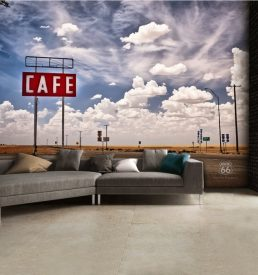 h3 258x275 - 1Wall Route66 Feel The Freedom Café Road Wall Mural 3.15 x 2.32m