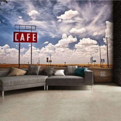 h3 400x400 - 1Wall Route66 Feel The Freedom Café Road Wall Mural 3.15 x 2.32m