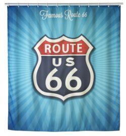 w 250x271 - Anti-Schimmel Duschvorhang Vintage Route 66, 180 x 200 cm