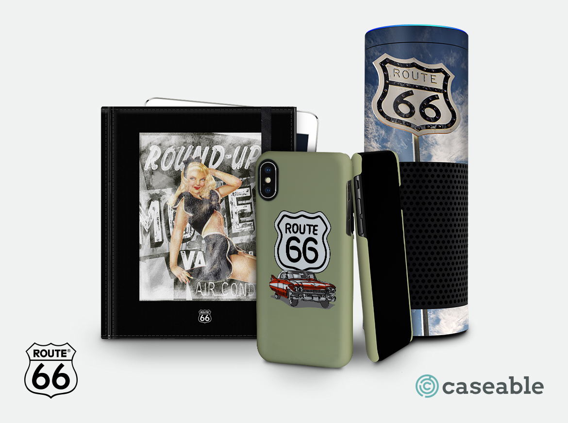 caseable r66 - Unique ROUTE 66 branded accessories - the result of the partnership between Tempting Brands and caseable
