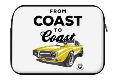 route 66 from coast to coast laptop eco sleeve 400x274 - ROUTE 66 From Coast to Coast - Laptop Eco Sleeve